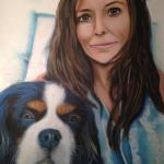Kimberley and Winston  Mixed media on canvas 16 x 20